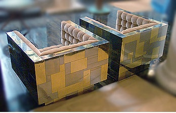 Paul Evans Directional Cityscape Cube Chairs