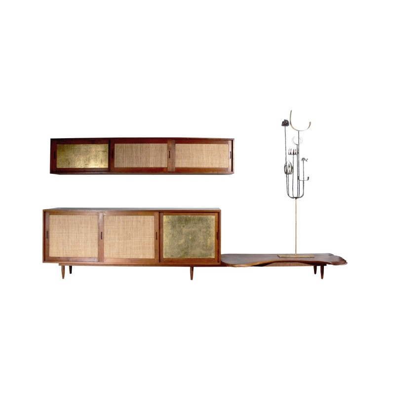 Attrayant Paul Evans And Phillip Lloyd Powell Console And Hanging Cabinet Custom