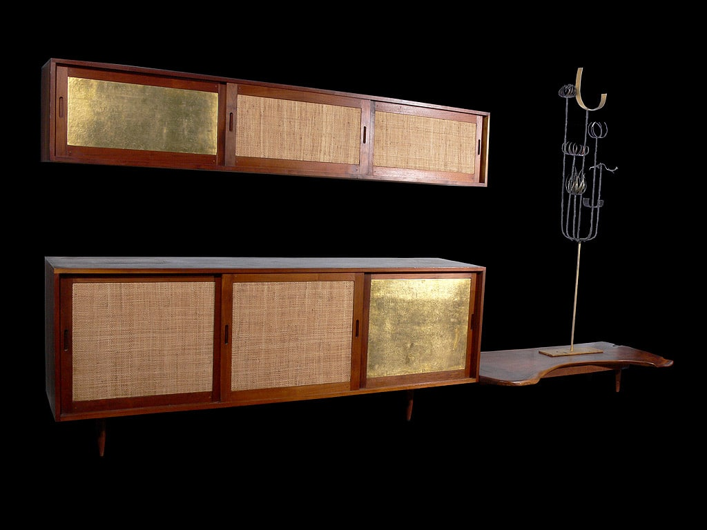 Paul Evans And Phillip Lloyd Powell Console And Hanging Cabinet Custom