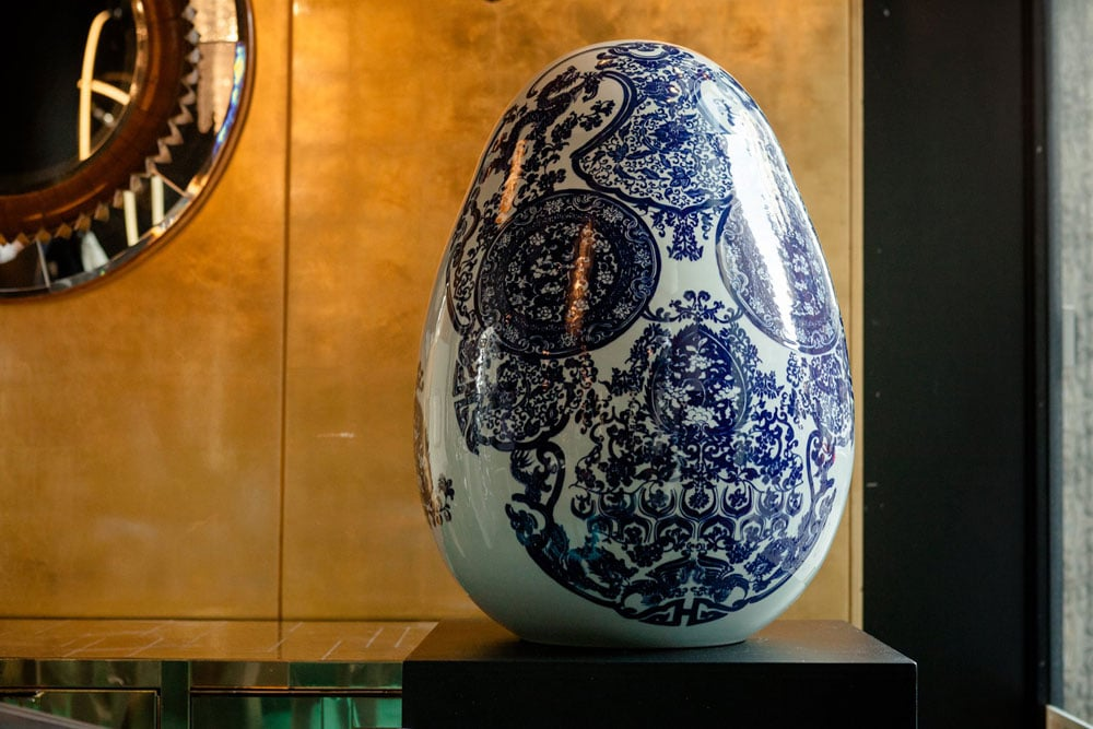 Jacky Tsai's Big Egg for the Egg by Beth Katleman for the Faberge Big Egg Hunt NYC.