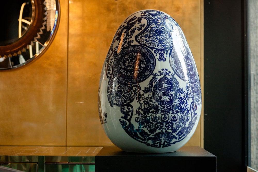 Jacky Tsai's Big Egg for the Egg by Beth Katleman for the Faberge Big Egg Hunt NYC.