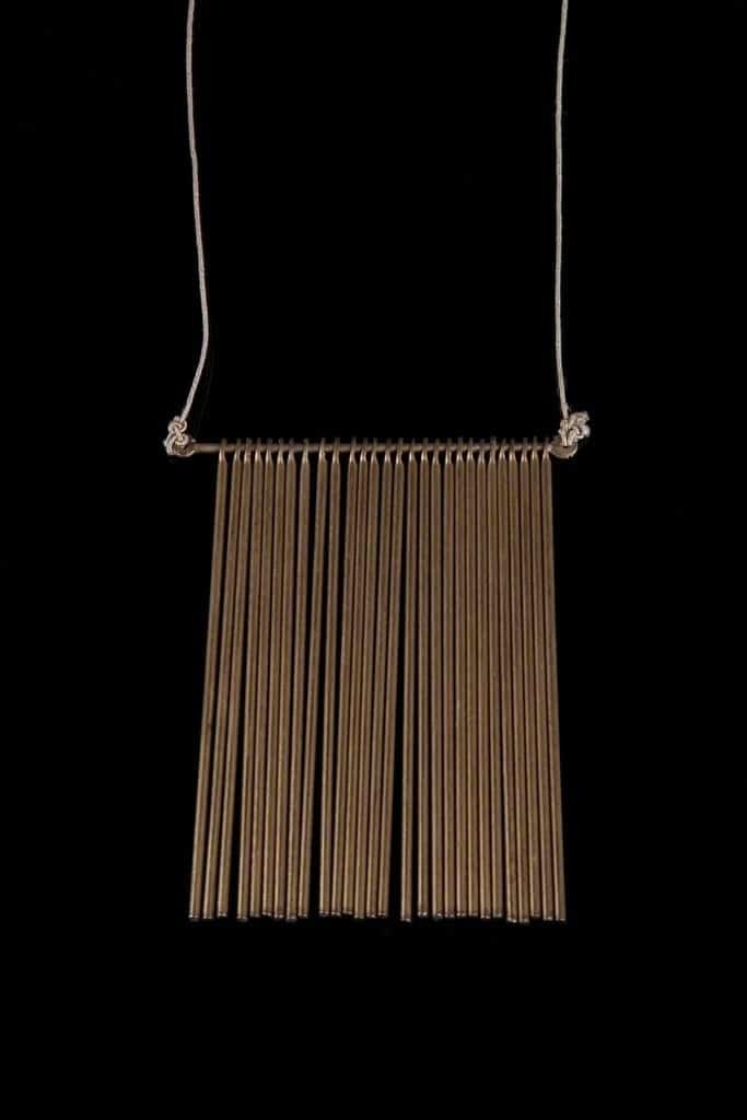 Harry Bertoia Unique fringe pendant with 28 rods, circa. 1970s Didier Ltd.
