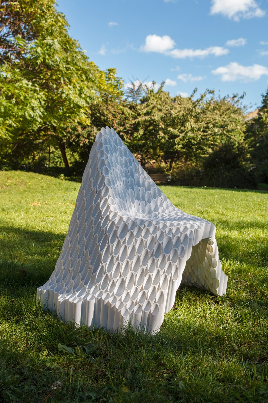 The Yard Sale Collective's Roccapina V chair and OSMA chair (pictured) are offered by Todd Merrill.