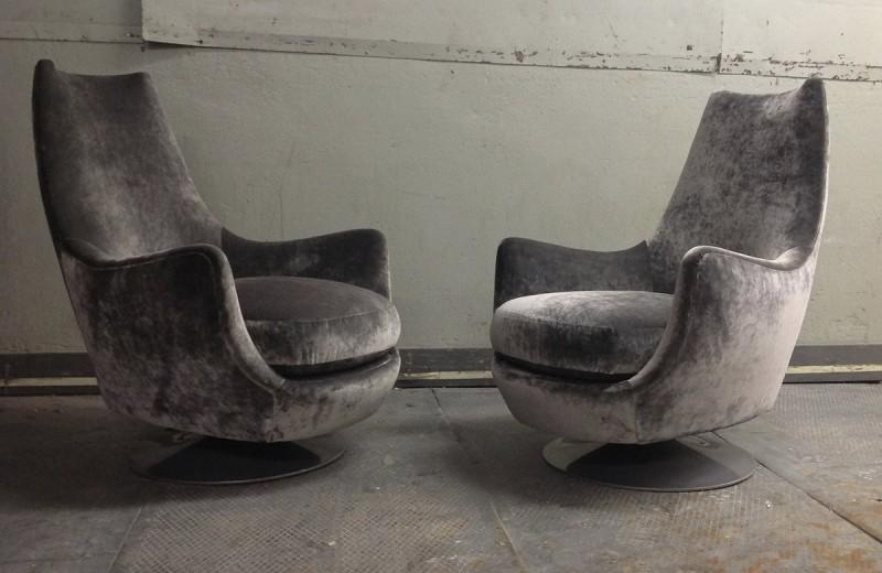 Milo Baughman, Highback Swivel Chairs, USA, C. 1970u0027s. SOLD