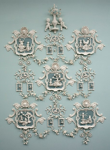 """Hostile Nature"" by Beth Katleman, USA, 2014. Porcelain wall mounted installation."