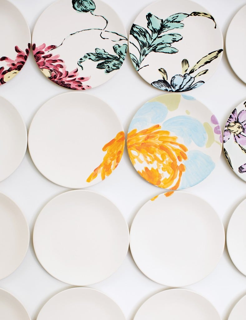 HATCH'S REINTERPRETATION OF AN 18TH-CENTURY DRESDEN CHINA PATTERN WAS COMMISSIONED BY A CLIENT IN MONTREAL. PHOTOGRAPH BY MICHAEL PIAZZA