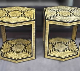 End-Tables in the manor of Fornasetti