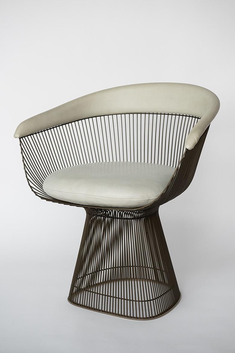 Warren Platner Set Of 6 Bronze Dining Chairs Usa 1960s