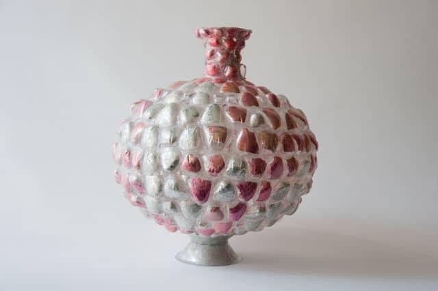 Shari Mendelson Pink and Silver Vessel, 2014 Todd Merrill Studio $6,800