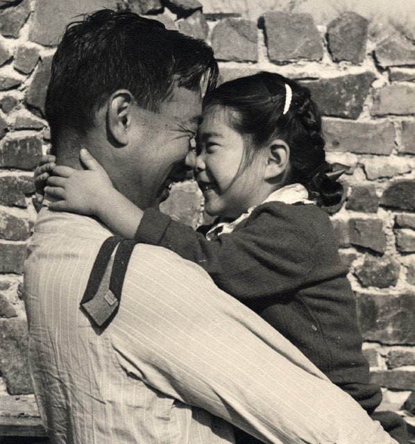 Nakashima is seen here with his daughter, Mira, an accomplished craftsperson in her own right, who has been running the family's Pennsylvania studio since her father's death in 1990. Photo courtesy of Nakashima Studio