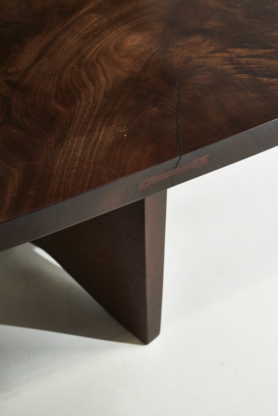George Nakashima, Black Walnut Slab Table ...