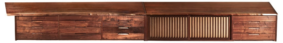 Shop the Nakashima Continuous Hanging Wall Case, 1957