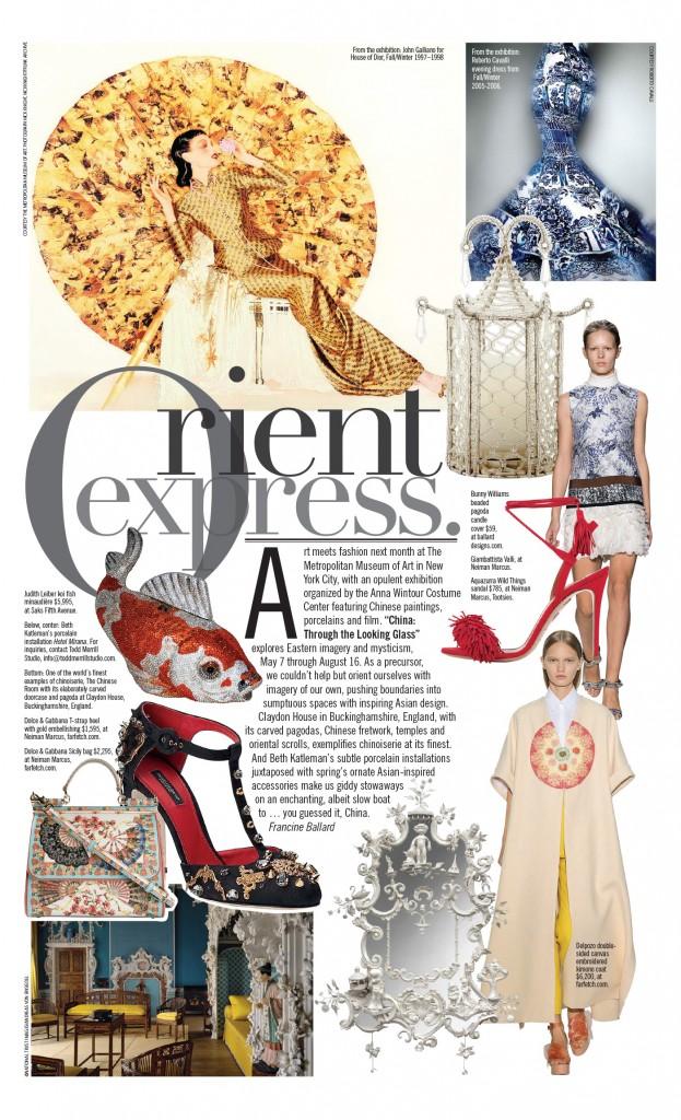 Paper City Magazine - Orient Express -  April 2015