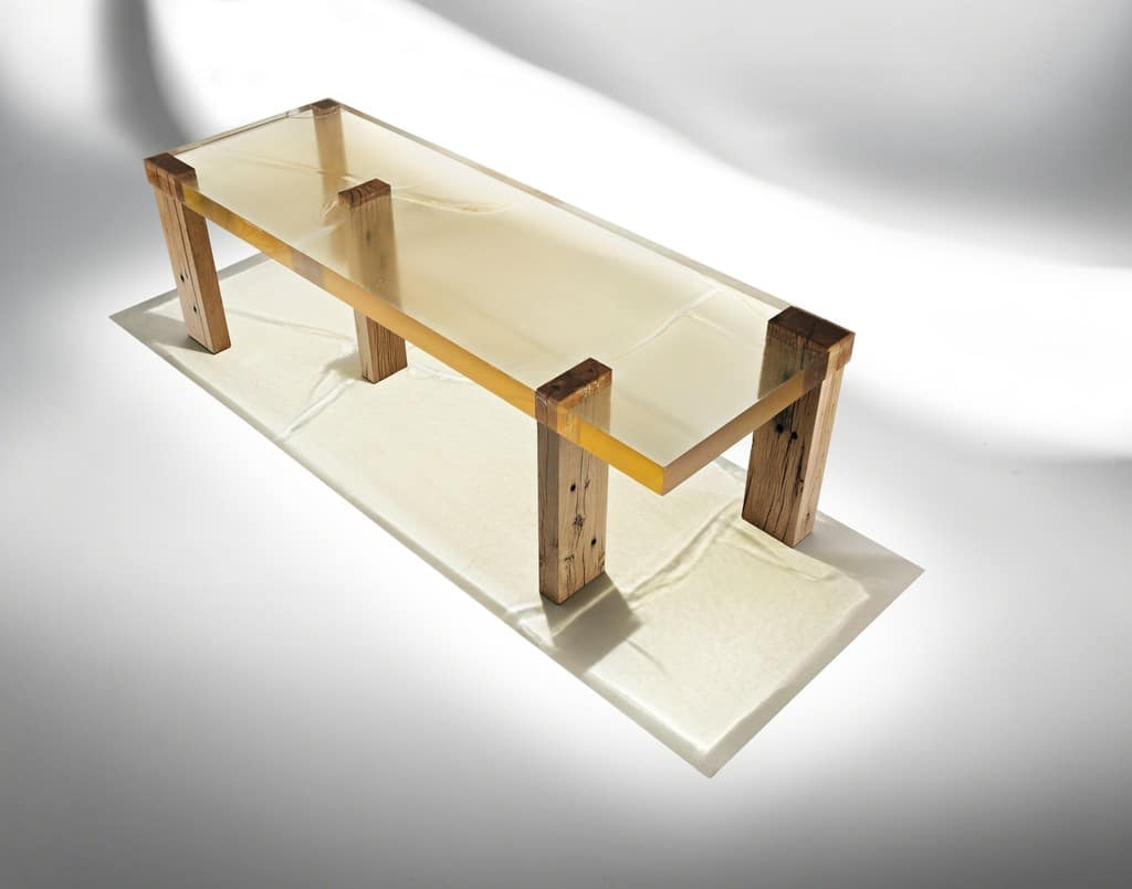 Nucleo Wood Fossil Table 01, 2013 ammann//gallery