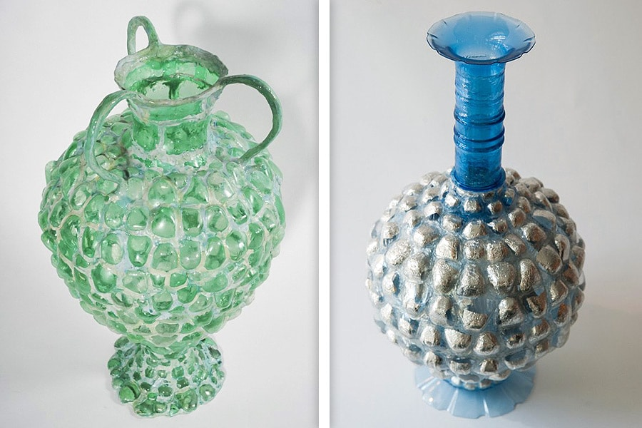 Upcycled plastic vessels by Shari Mendelson, Photo: Courtesy Todd Merrill Studio
