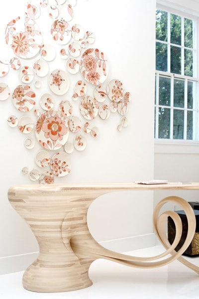 Table by Robert Scott, plates by Molly Hatch, Photo: Courtesy Todd Merrill Studio