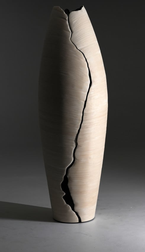 The Babel cabinet has a silhouette reminiscent of a cowrie shell. The pieces is priced at about $83,000.