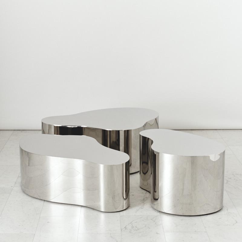 karl springer free form coffee table  Karl Springer LTD, Stainless Steel Free Form Low Table, USA ...