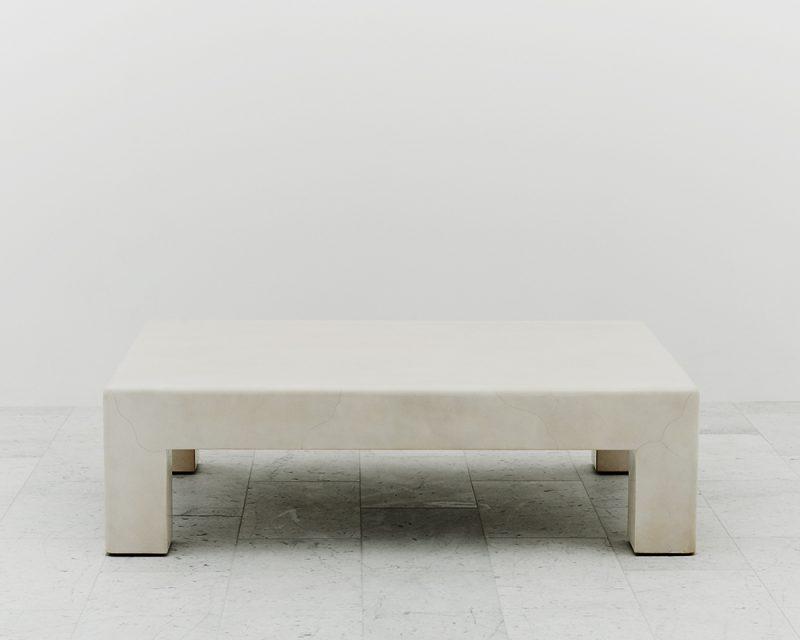Karl Springer Lacquered Goatskin Low Table Usa C 1980
