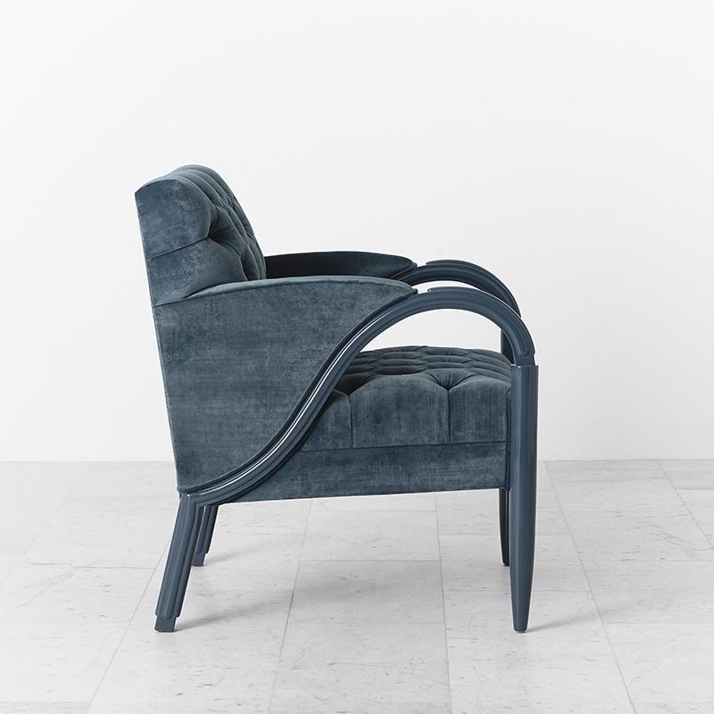 Larry Laslo For Directional, Blue Velvet Tufted Chair ...