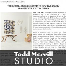 press release, todd merrill