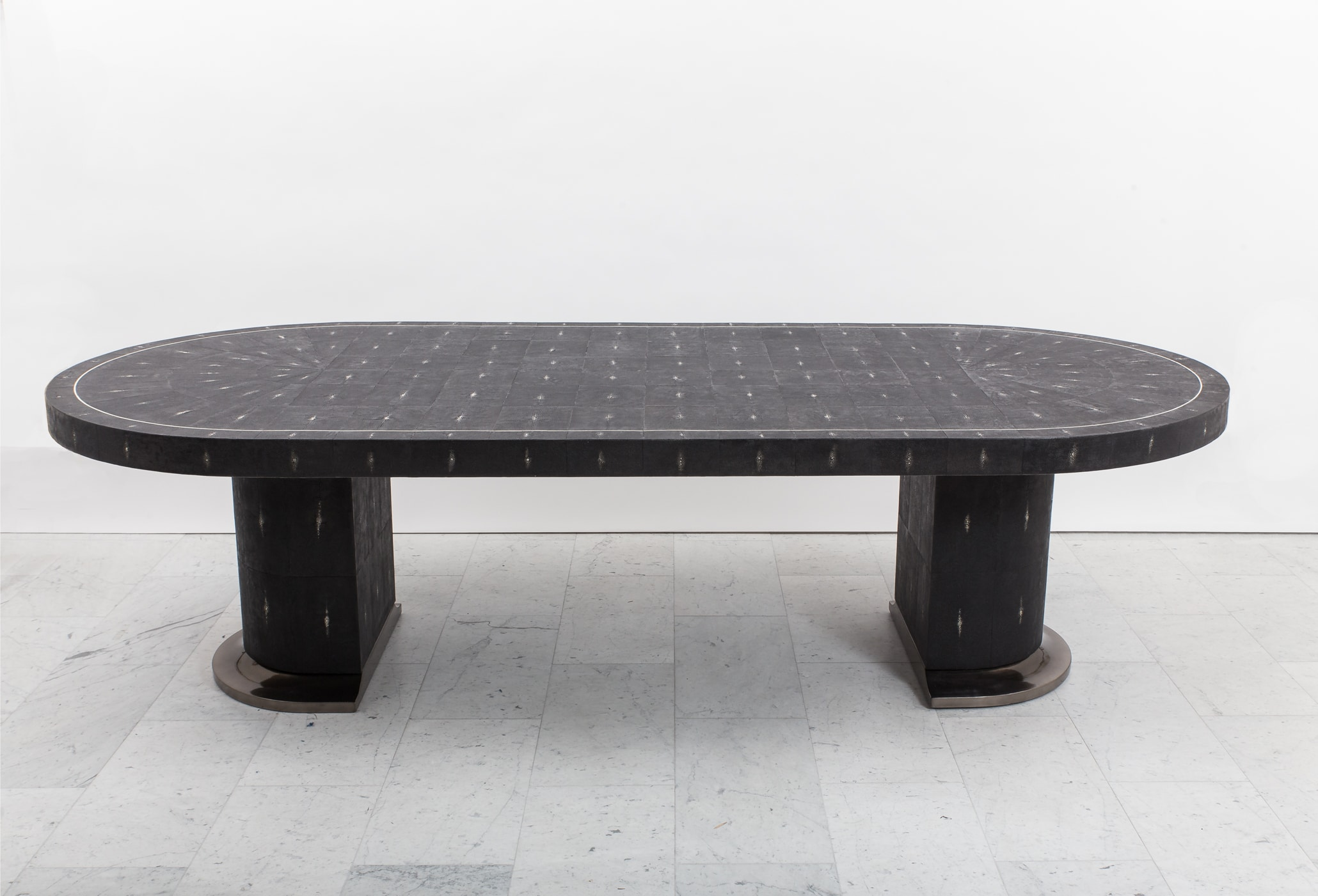 Ron Seff Shagreen Racetrack Dining Table Usa C 1980