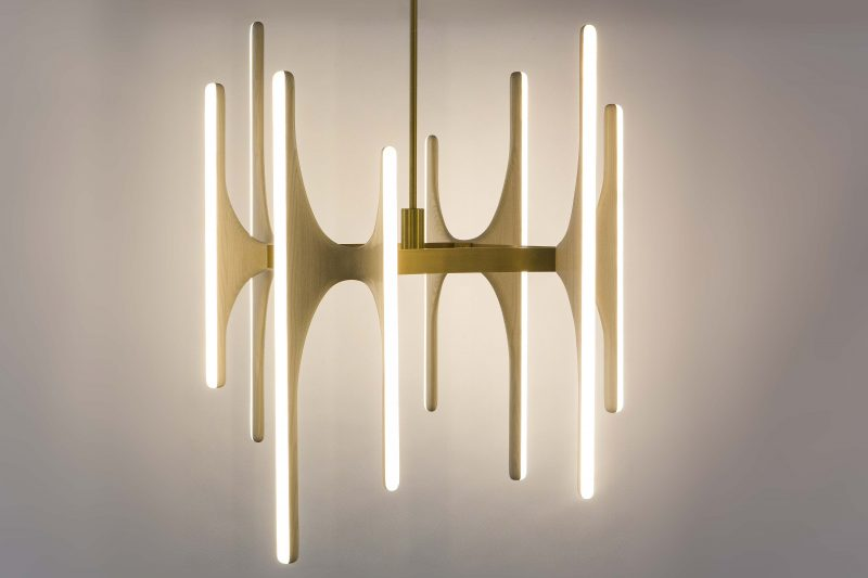 Markus Haase Bleached Ash and Onyx Chandelier USA 2016 – Onyx Chandelier