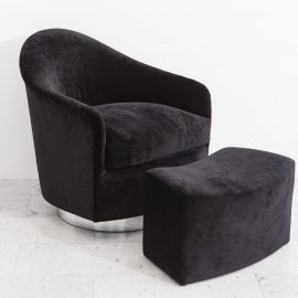 Milo Baughman Swivel chair and ottoman_SL_2