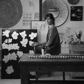 Artist Sophie Coryndon in her studio.