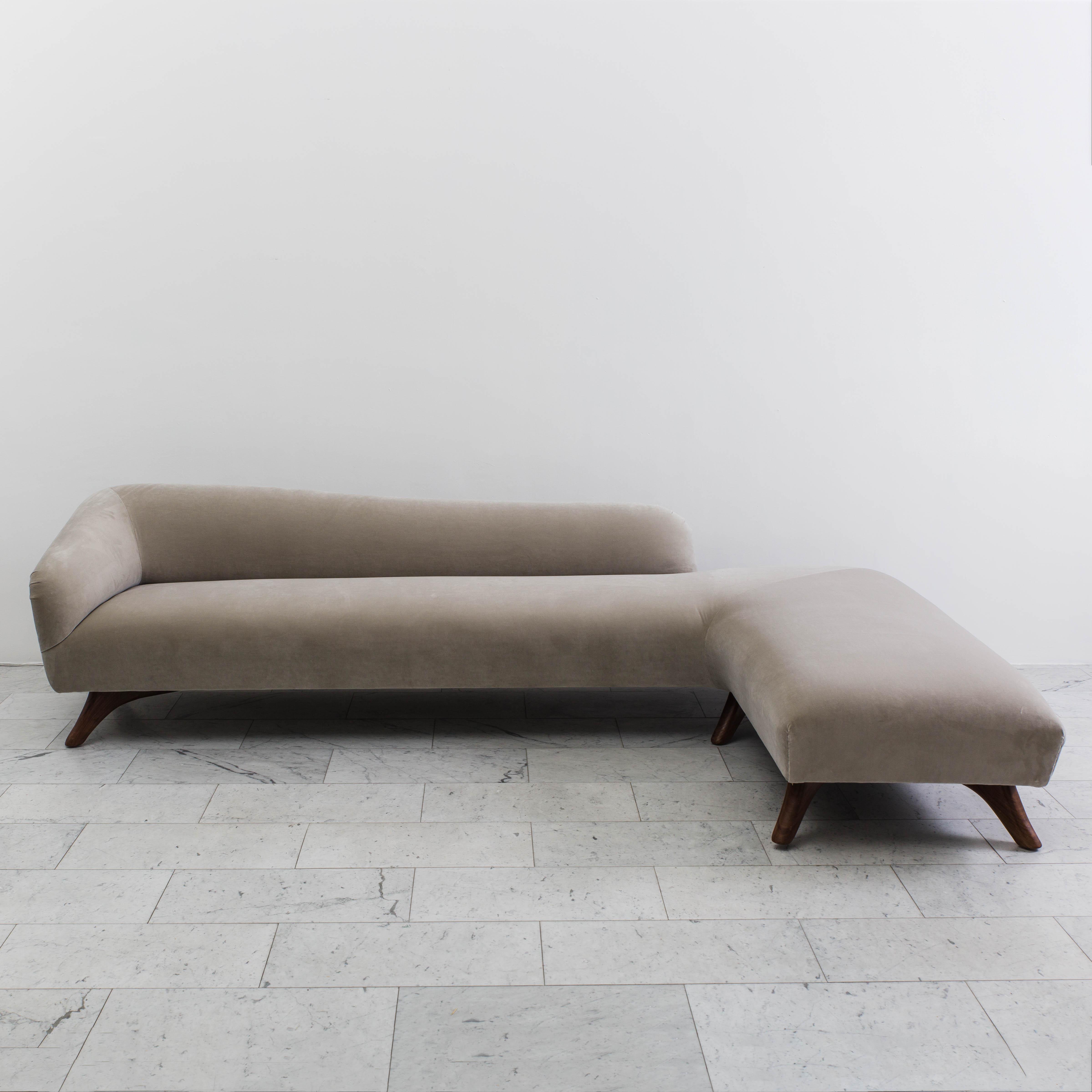 Genial Vladimir Kagan, L Shaped Swan Back Sofa ...