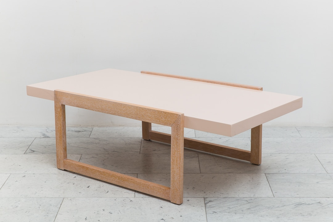 Paul laszlo architectural cocktail table for brown for Architectural coffee table