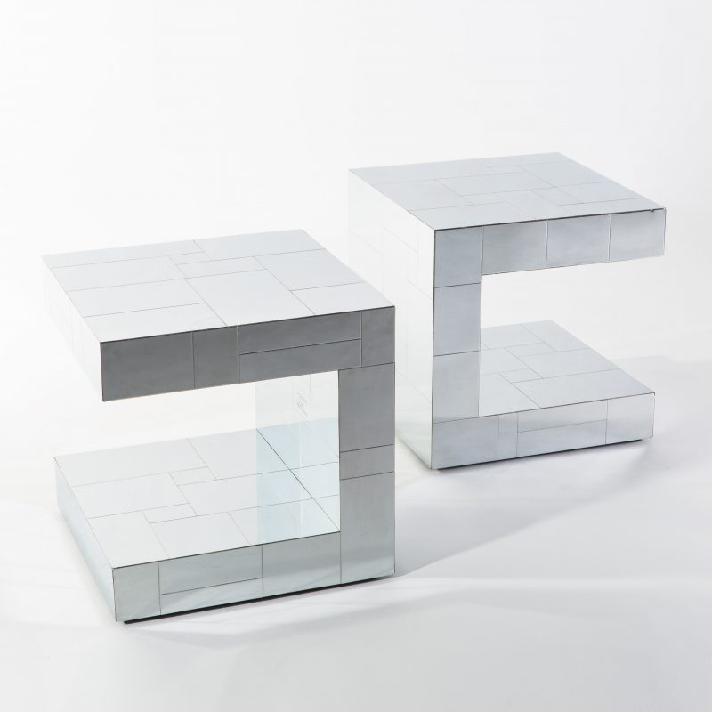 Paul Evans, Cityscape C Shaped Side Tables, USA, 1970s. Paul Evans,  Cityscape C Shaped Side Tables ...