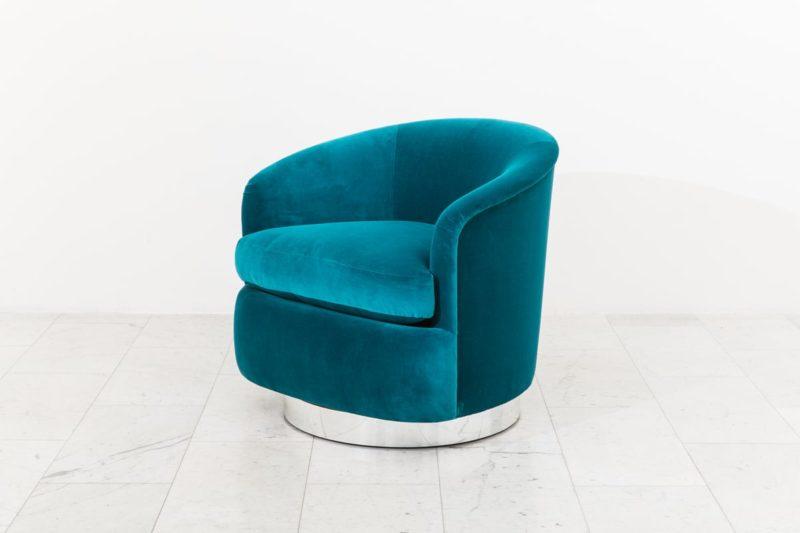 Fantastic Milo Baughman Pair Of Dark Teal Swivel Chairs Usa 1970S Unemploymentrelief Wooden Chair Designs For Living Room Unemploymentrelieforg