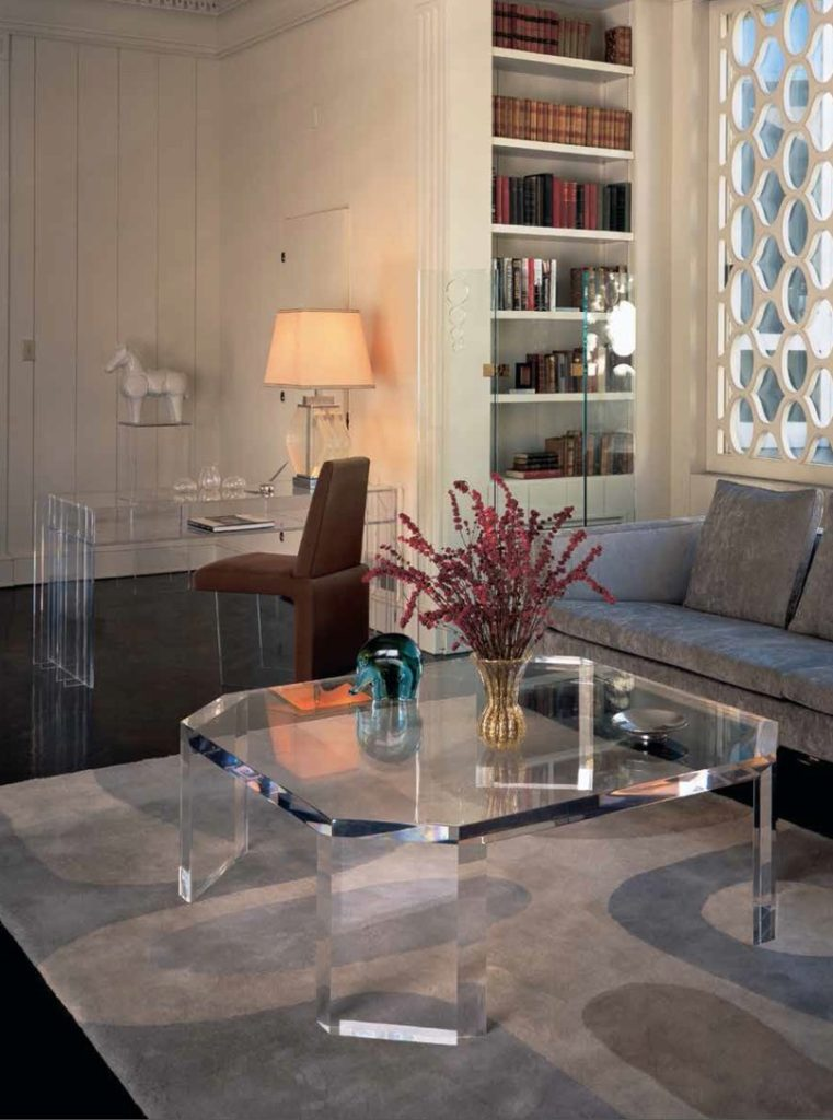 Acrylic Furniture Of The 1960s And 70s By Charles Hollis Jones In Los Angeles Home Actress Loretta Young